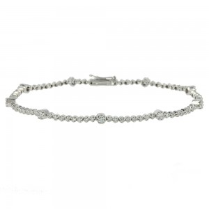 Bracelet  White gold K18 with diamonds Code 003772