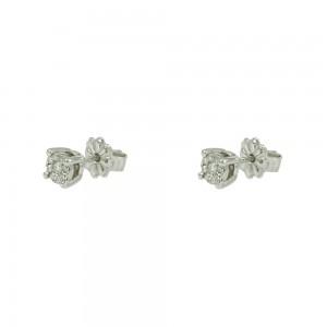Diamond earrings White gold K18  Brilliant cut Code 004258