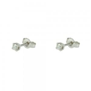 Diamond earrings White gold K18  Brilliant cut Code 005539