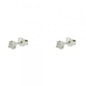 Diamond earrings White gold K18  Brilliant cut Code 005570
