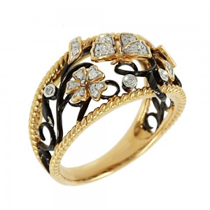 Ring Pink Gold with Diamonds Code 005769