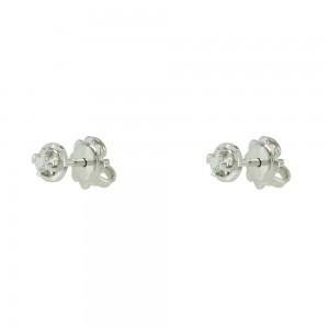 Diamond earrings White gold K18 Brilliant cut Code 006475