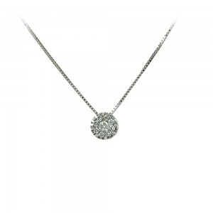 Diamond necklace White gold K18  Brilliant cut Code 006481