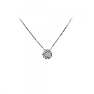 Diamond necklace White gold K18  Brilliant cut Code 006482