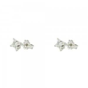 Diamond earrings White gold K18  Brilliant cut Code 007480