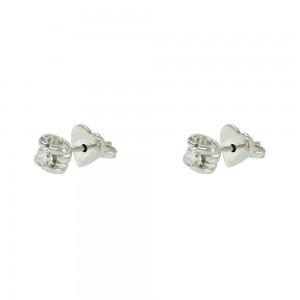 Diamond earrings White gold K18  Brilliant cut Code 007481