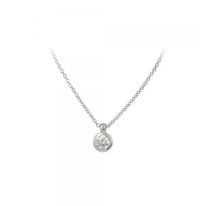 Diamond necklace White gold K18 Code 007891