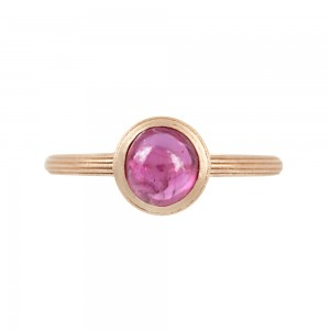 Ring Pink gold K18 with Ruby Code 007896