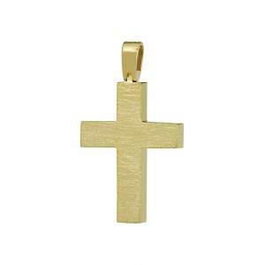 Men's cross Aneli collection Yellow gold K18 Code 008653