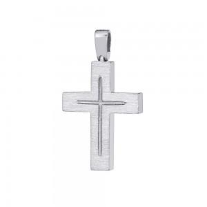 Men's cross Aneli collection  White gold K18 Code 008657