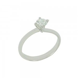 Solitaire ring White gold K18 with diamond GIA Certification Code 008712