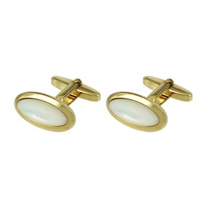 Men's cufflinks of Silver 925 Yellow gold plated Code 003909