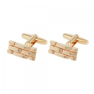 Men's cufflinks of Silver 925 Pink gold plated Code 003954