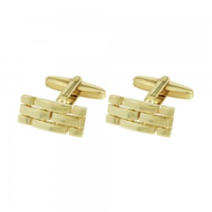Men's cufflinks of Silver 925 Yellow gold plated Code 005551