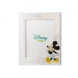 Silver photo frame for baby girl Disney Mickey mouse Code 008045