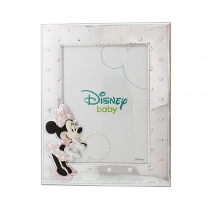 Silver photo frame for baby girl Disney Minnie mouse Code 008047