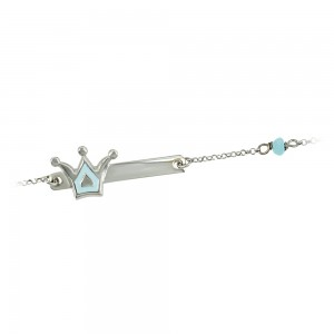 Bracelet for baby Crown motif Silver 925 degrees White gold plated Code 005483