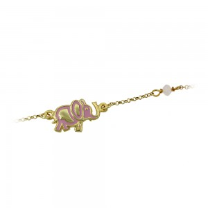 Bracelet for baby Elephant Silver 925 degrees Yellow gold plated Code 005485