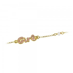 Bracelet for baby Girl Silver 925 degrees Yellow gold plated Code 005491