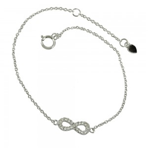 Bracelet of 925 Silver White gold plated Code 006122