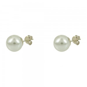 Earrings of Silver 925 White gold plated Code 006129