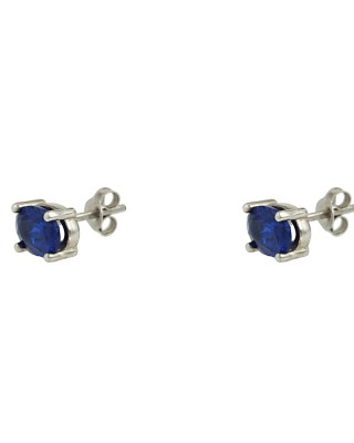Earrings of Silver 925 White gold plated Code 006648