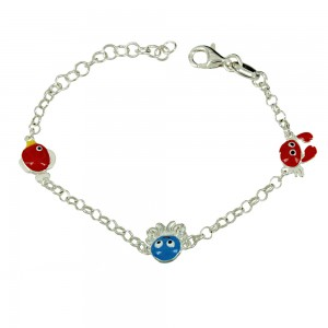 Bracelet for baby Sea animals motif Silver 925 degrees White gold plated Code 007242