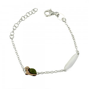 Bracelet for baby Turtle motif Silver 925 degrees White gold plated Code 007246