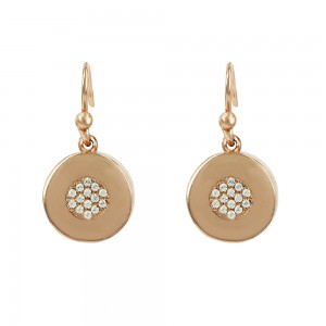 Earrings of pink gold plated Silver 925 Code 007378