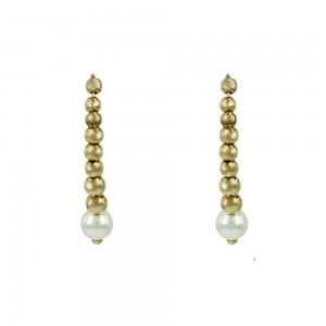 Earrings of  yellow gold plated Silver 925 Code 007379