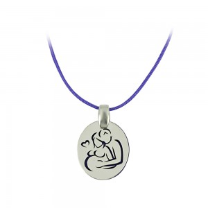 Pregnancy pendant of Silver 925 Plated Code 007683