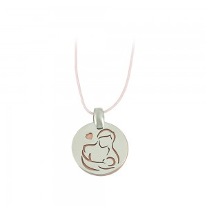 Pregnancy pendant of Silver 925 Plated Code 007684