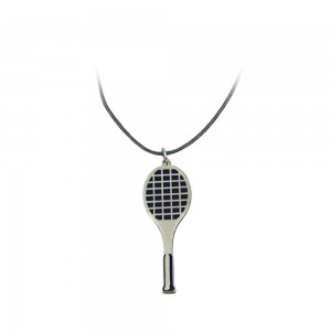 Necklace of Silver 925 Ρacket  White gold plated Code 007691