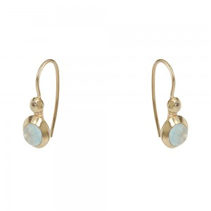 Earrings of  pink gold plated Silver 925 Code 007746