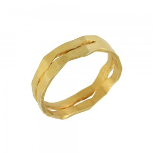 Ring of Silver 925 Yellow gold plated Code 007774