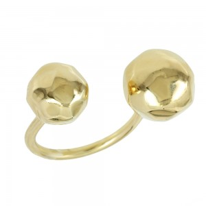 Ring of Silver 925 Yellow gold plated Code 007779