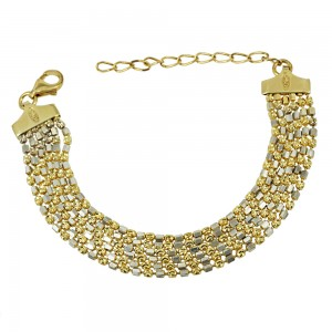 Bracelet of 925 Silver White and Yellow gold plated Code 007865