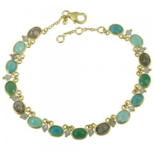 Bracelet of Silver 925 Yellow gold plated Code 007866