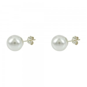Earrings of Silver 925 White gold plated Code 007920