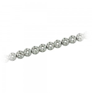 Bracelet of 925 Silver White gold plated Code 008183