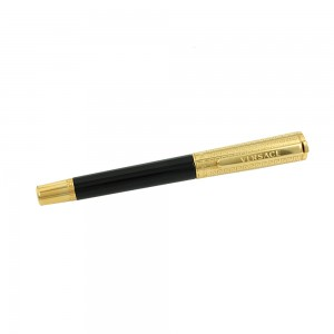 Pen Versace Olympia Olympia Roller Black 1.5mm Code 007875 Yellow gold Plated