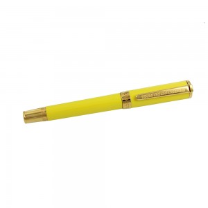 Pen Versace Olympia Roller Black 1.5mm Code 007876 Yellow gold Plated