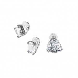 Set of 3-piece Swarovski earrings with clip Millenia 5602413 Plated
