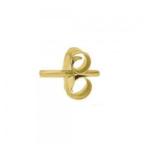 Earrings Yellow gold K14 Code 005643