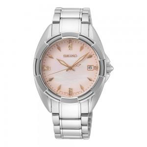 Seiko Conceptual SKK725P1 Quartz Stainless steel Bracelet Mother of pearl Diamonds
