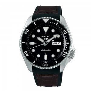 Seiko 5 Sports SRPD55K2 Automatic Stainless steel Rubber Leather strap