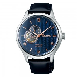 Seiko Presage SSA421J1 Automatic Stainless steel Black color leather