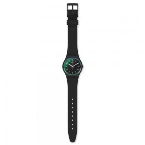Swatch Gent La Night GB330 Black color Rubber Strap