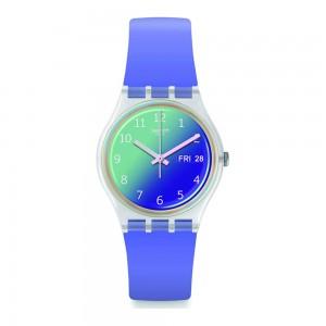 Swatch Ultralavande GΕ718 Purple color rubber Strap