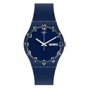 Swatch Gent Over Blue GN726 Blue color Rubber Strap